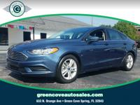 This 2018 Ford Fusion SE in Lightning Blue features: