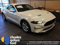 New Price! Oxford White 2018 Ford Mustang EcoBoost RWD