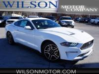 Oxford White 2018 Ford Mustang EcoBoost RWD 10-Speed