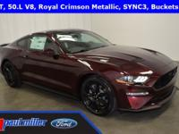 2018 Ford Mustang GT, dressed in Royal Crimson Metallic