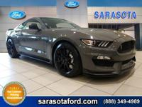SHELBY GT 350! ONLY 550 MILES! LEAD FOOT GRAY WITH