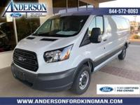 Certified. Oxford White 2018 Ford Transit-250 RWD