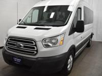 Clean CARFAX. Oxford White 2018 Ford Transit-350 XLT 15