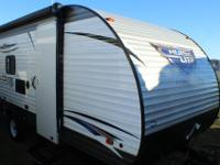 Beautiful travel trailer with bunkhouse style