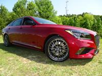 New Arrival! This 2018 Genesis G80 Red with a Leather