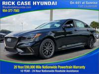 2018 Genesis G80 3.3T Sport  in Black and 20 year or