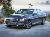 2018 Genesis G80 3.8 White 27/19 Highway/City MPG  Call