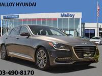 CARFAX One-Owner. Clean CARFAX. Gray 2018 Genesis G80