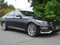 CARFAX One-Owner. Clean CARFAX. Black 2018 Genesis G80