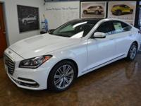 White 2018 Genesis G80 3.8 8-Speed Automatic with