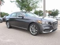 Recent Arrival! 2018 Genesis G80 3.8 Gray RWD 8-Speed