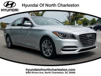 Silver 2018 Genesis G80 3.8 AWD 8-Speed Automatic with