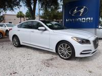 White 2018 Genesis G80 5.0 RWD 8-Speed Automatic with