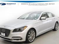 Silver 2018 Genesis G80 5.0 AWD 8-Speed Automatic with