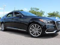 Black 2018 Genesis G80 5.0 5.0L V8 DGI DOHC  Options: