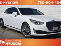 CARFAX One-Owner. Clean CARFAX. White 2018 Genesis G90