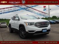 Summit White 2018 GMC Acadia SLT-1 AWD 6-Speed