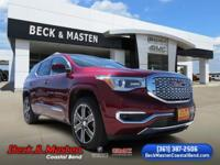 CARFAX One-Owner. Crimson Red 2018 GMC Acadia Denali