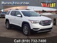 White Frost 2018 GMC Acadia SLE-2 FWD 6-Speed Automatic