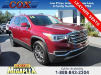 New Price! Certified. This 2018 GMC Acadia SLT-1 in