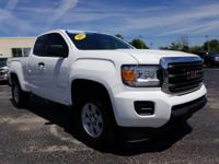 Certified. White 2018 GMC Canyon 4WD 8-Speed Automatic