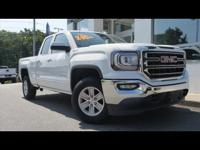 Summit White 2018 GMC Sierra 1500 SLE 4WD 6-Speed