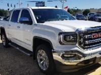 Certified. Summit White 2018 GMC Sierra 1500 SLT 4WD
