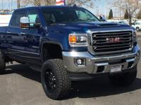 Blue Metallic 2018 GMC Sierra 2500HD SLT 4WD Allison