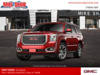 Scores 22 Highway MPG and 14 City MPG! This GMC Yukon