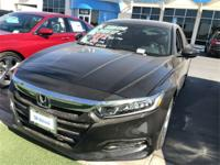 Crystal Black 2018 Honda Accord EX-L FWD CVT I4 DOHC