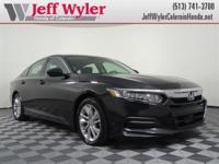 Clean CARFAX. Black 2018 Honda Accord LX FWD CVT I4