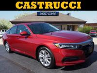 Clean CARFAX. Certified. Red 2018 Honda Accord LX FWD