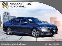 CARFAX One-Owner. Gray 2018 Honda Accord Touring FWD