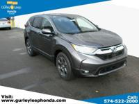 Scores 34 Highway MPG and 28 City MPG! This Honda CR-V