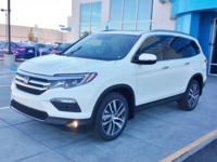 2018 Honda Pilot Touring Diamond White Pearl AWD
