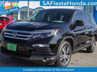 Crystal Black Pearl 2018 Honda Pilot EX-L FWD 6-Speed