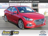 Red 2018 Hyundai Accent Limited FWD 6-Speed Automatic