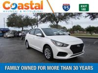 White 2018 Hyundai Accent SE FWD 6-Speed Automatic with