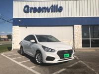 $2,605 off MSRP! Frost White 2018 Hyundai Accent SEL