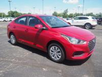 Red 2018 Hyundai Accent SE FWD 6-Speed Automatic with
