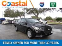 Black 2018 Hyundai Accent SE FWD 6-Speed Automatic with