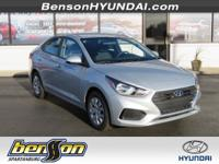 Silver 2018 Hyundai Accent SE FWD 6-Speed Automatic