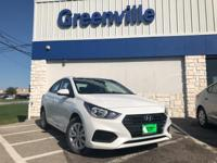 $2,527 off MSRP! Frost White 2018 Hyundai Accent SE FWD