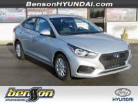 Silver 2018 Hyundai Accent SEL FWD 6-Speed Automatic
