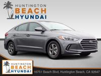 2018 Hyundai Elantra Eco 4D Sedan Machine Gray 1.0L I4