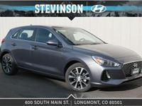 Gray 2018 Hyundai Elantra GT 6-Speed  We're located in
