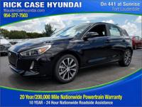2018 Hyundai Elantra GT L  in Black Pearl and 20 year