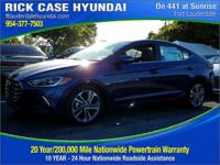2018 Hyundai Elantra Limited  in Lakeside Blue and 20