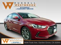 2018 Hyundai Elantra Limited Scarlet Red 4D Sedan 2.0L
