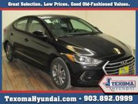 Black 2018 Hyundai Elantra FWD 6-Speed Automatic with